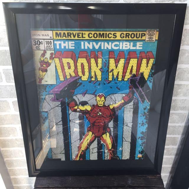 Iron Man Comic Book Framed Art