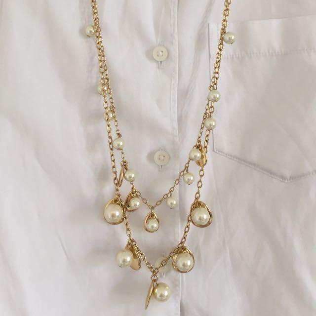 JCrew Pearl Pendant Necklace