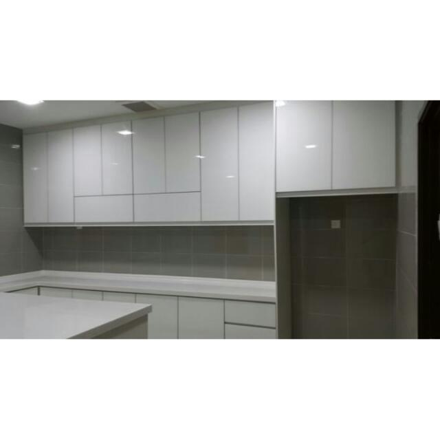 Kitchen Cabinet 4g Glass Door Home Furniture Furniture On Carousell