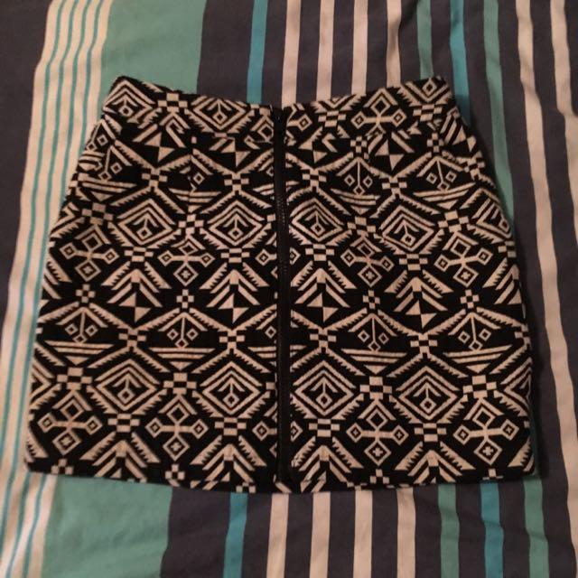 Ladakh Aztec Print Skirt