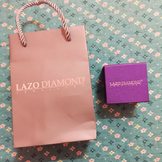 LAZO DIAMOND 💎 ring box and Paperbag