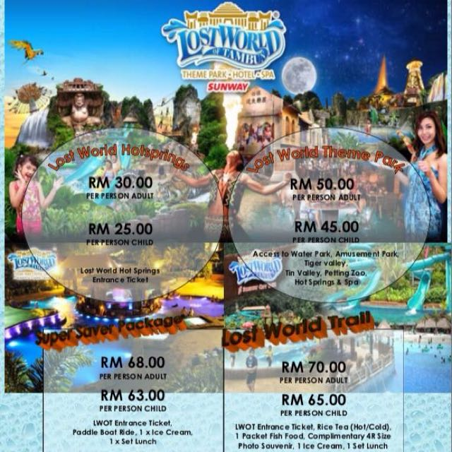 Lost World Of Tambun Tickets Vouchers Attractions Tickets On