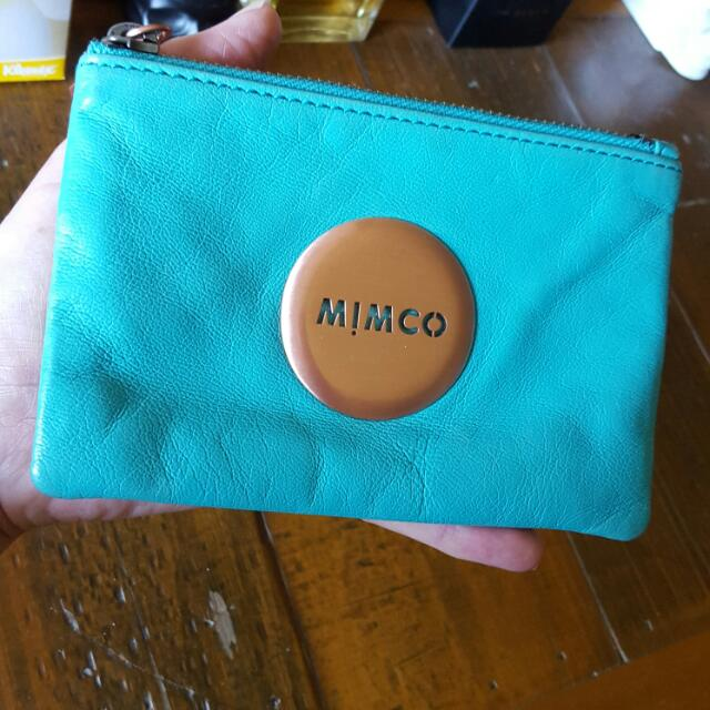 Mimco Small Turquoise Pouch