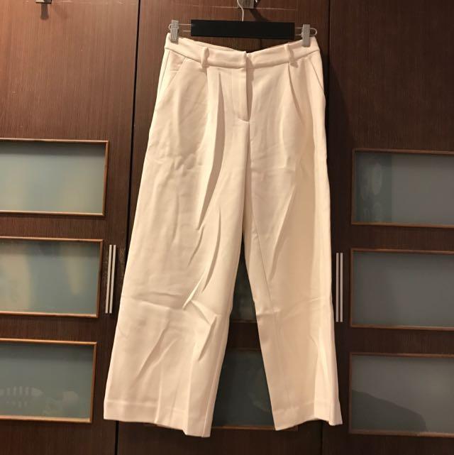 Monki 米白色寬褲 闊腿褲