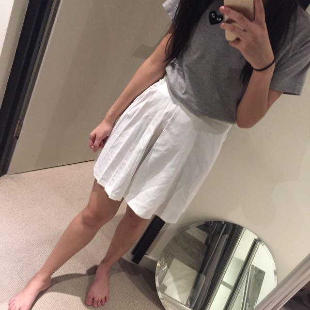 Monki White Skirt