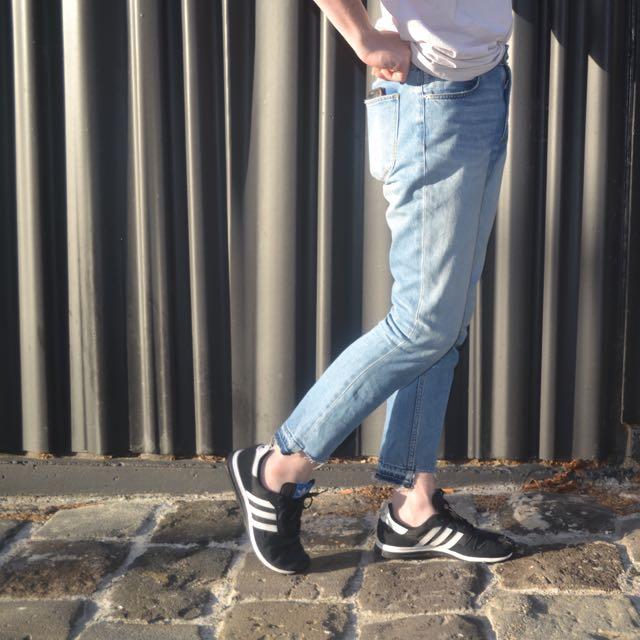 Neuw Denim High Waisted Hem Detail Jeans
