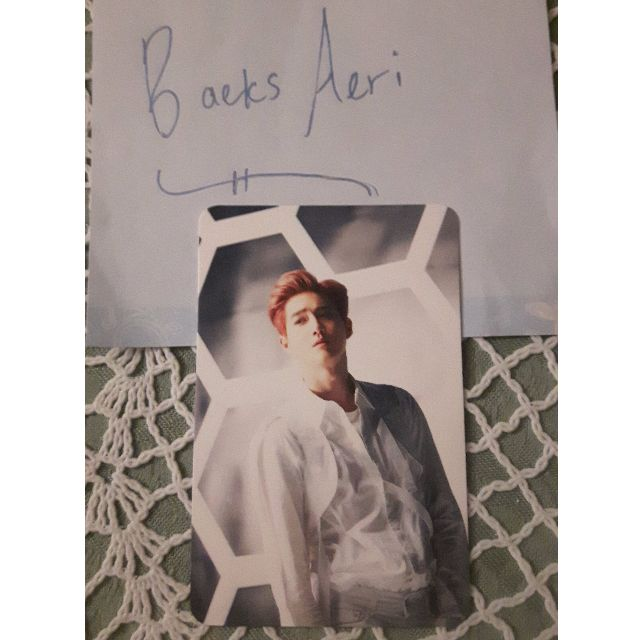 Official Coming Over Suho Photocard
