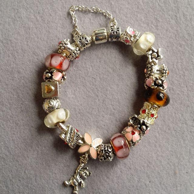 Pandora Inspired Charm Bracelet 18