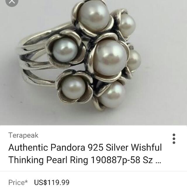 Pandora Wishful Thinking Pearl Ring