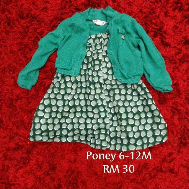 Poney Cardigan + Dress Set
