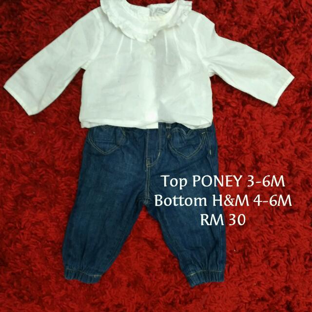 PONEY Top H&M Jeans Set