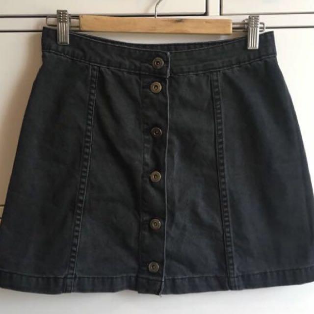 REDUCED* Black Denim Mini Skirt
