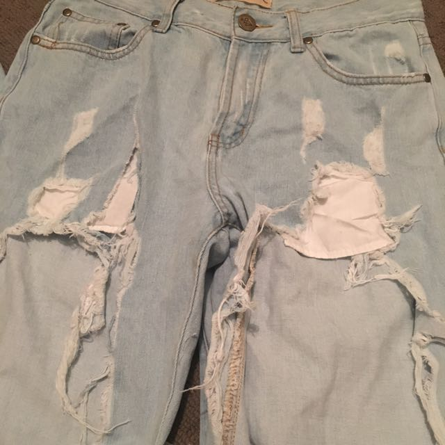 REVERSE ripped Jeans