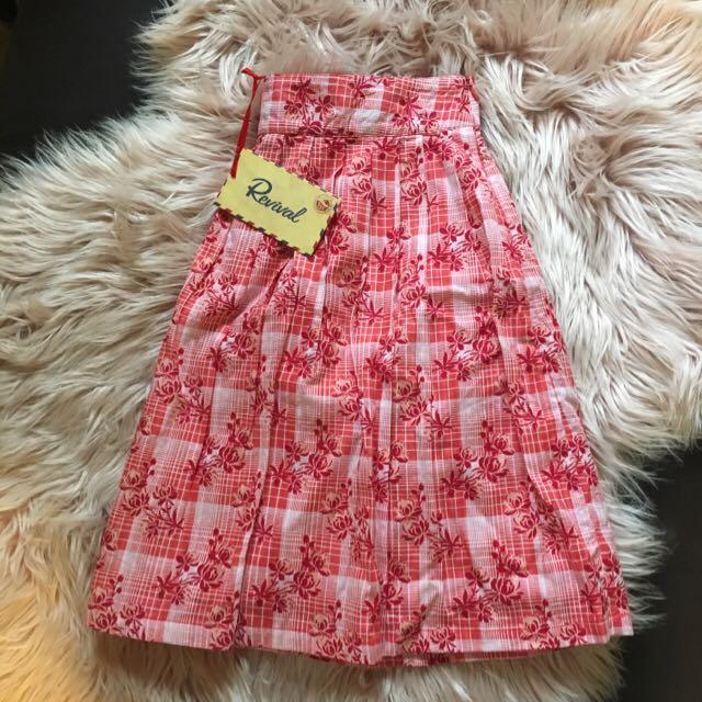 Revival Patty Skirt Red Print S16 BNWT