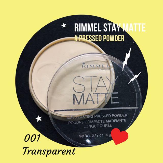 Rimmel Stay Matte控油蜜粉餅