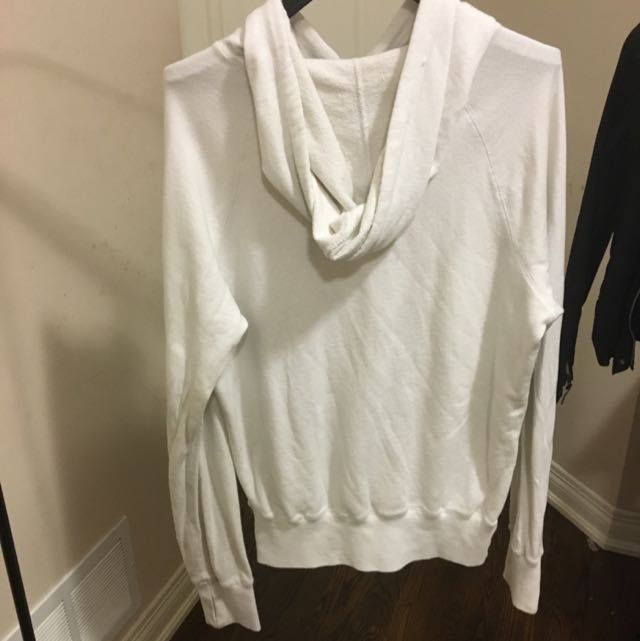 Roosts White Sweater Front Logo