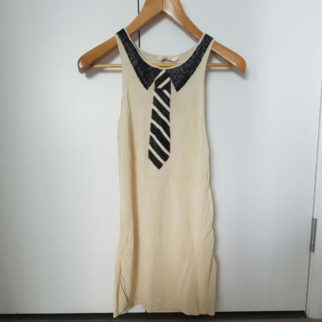 Sass & Bide Silk Knitted Sequin Dress Sz M (USED)