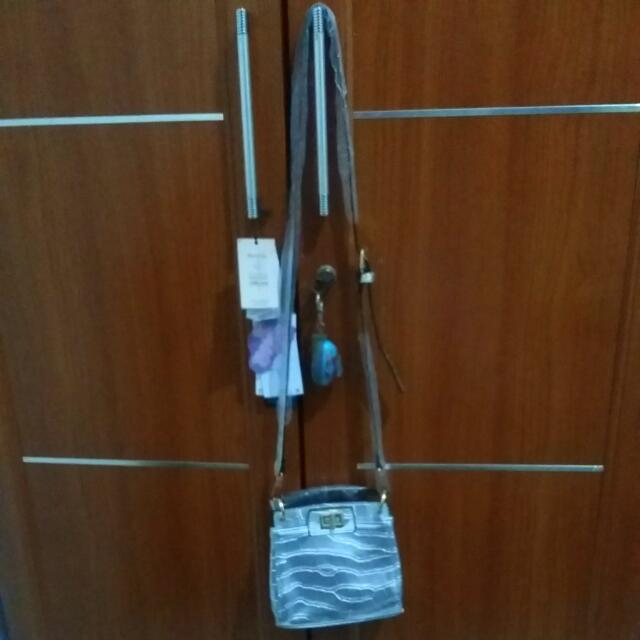 Sling Bag Silver From China [REPRICE]