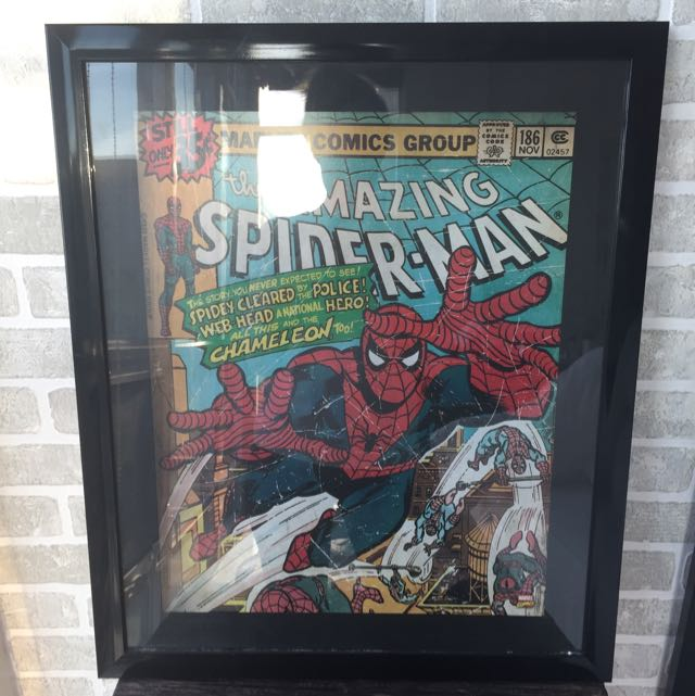Spider-Man Comic Book Framed Art