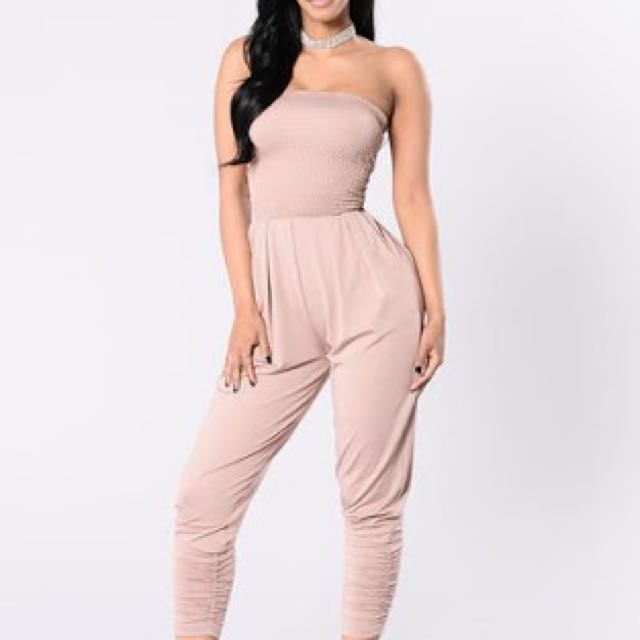 Strapless Blush Jumpsuit Small