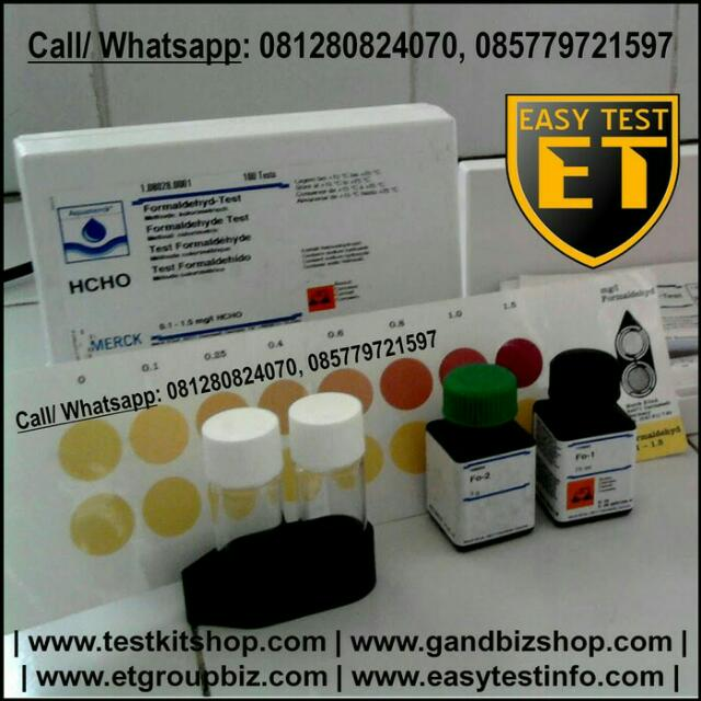 Test KIT Formalin (Formaldehyde) Merck German