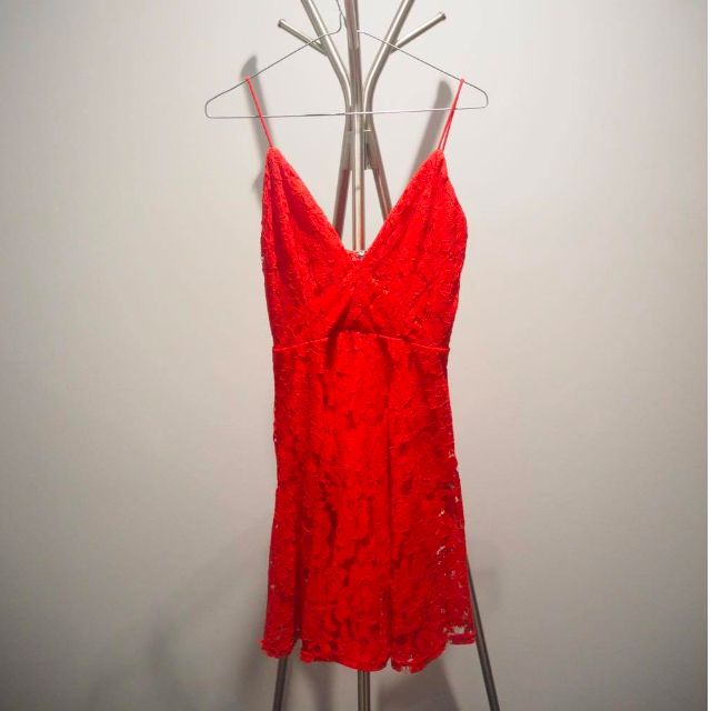 Tiger Mist: Red Lacy Dress Size 10