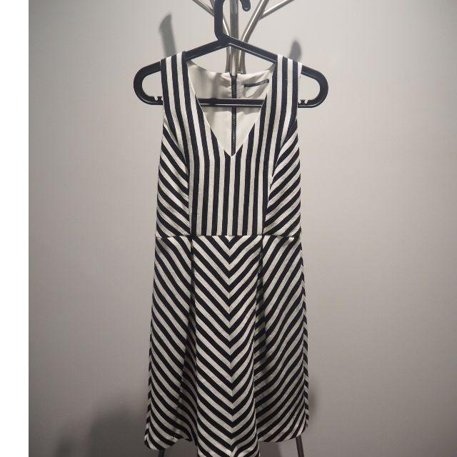 Tokito: Black and White midi dress (size 10)