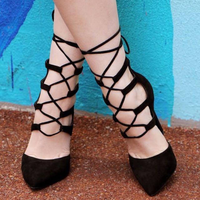 Tony Bianco Foxi Heels - Size 8