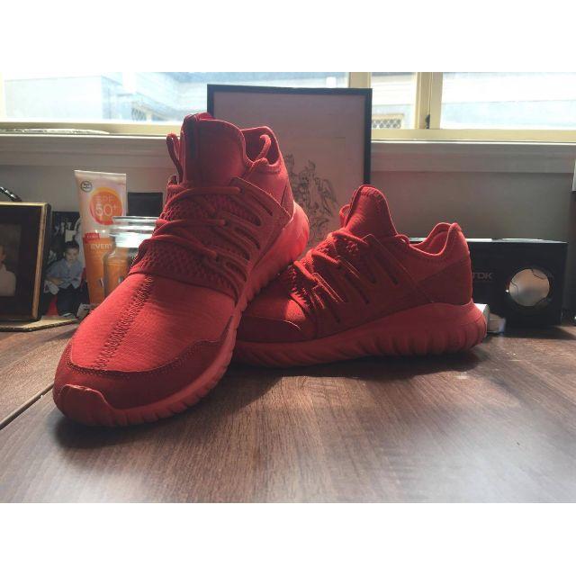 US 11 adidas Originals Tubular Radial Sneakers In Red