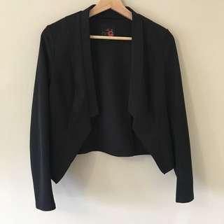 Guess Cropped Black Blazer