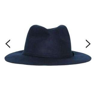 TOPMAN Navy Wool Puritan Hat