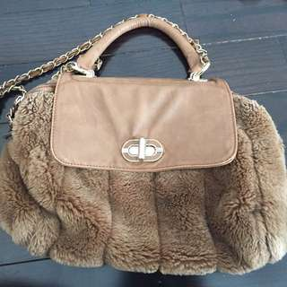 Faux Fur Handbag