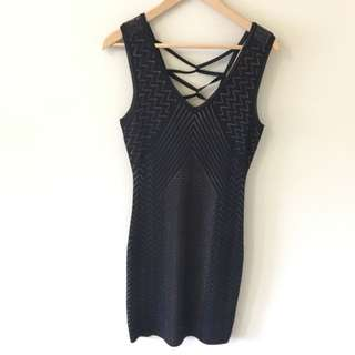 Guess Bodycon Dress With Lace Back