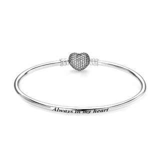 Pandora Moments Sliver Bracelets Always in my heart - Bangles