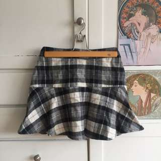 A&E Plaid Mini Skirt