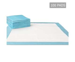 100 Puppy Pet Dog Toilet Training Pads Blue