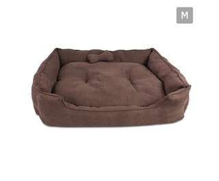 Faux Suede Washable Dog Bed - Medium