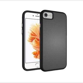 iPhone 7 Case Hybrid Shock Modern Slim Non-slip Grip Cell Phone Case for Apple iPhone 7 - Midnight Black