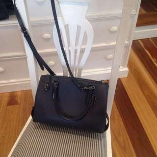 Navy Blue Coach Handbag Near New
