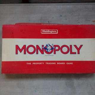 Vintage Monopoly UK by Waddingtons