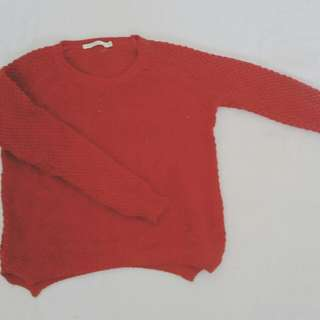 Burgundy Knitted Jumper