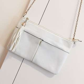 Dissh White Cross Body / Side Bag / Clutch