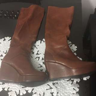 Brown Long Boots