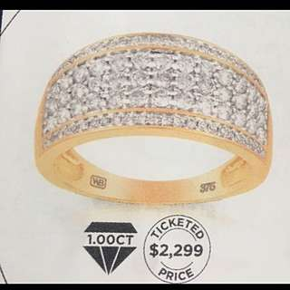 1ct Gold And Diamond Ring Wallace Bishop