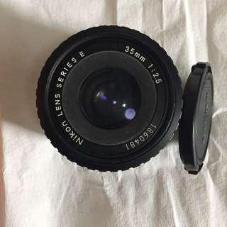 Nikon Lens Series E 35mm 1:2.5 Primer Lens
