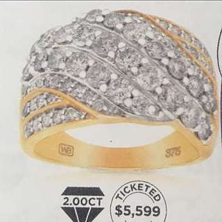 2 CT Diamond And Gold Wallace Bishop Ring