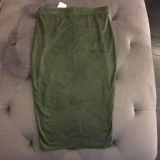 Mendocino Suede Olive Skirt