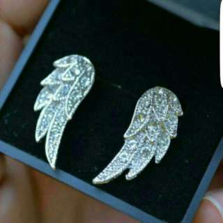 Sterling Silver Angel Wing Stud Earrings