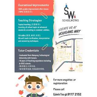 Hougang March holiday intensive Primary & Secondary Tuition