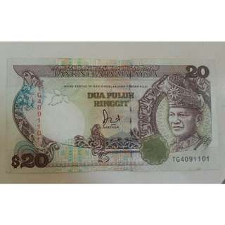 100 pcs of MYR20 Notes for Sale (for Collectors)